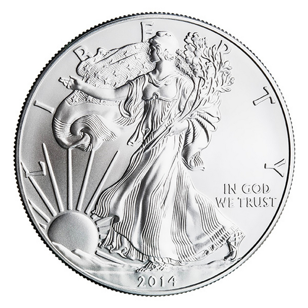 2014 Silver Eagle 1 oz Uncirculated #IRS81287