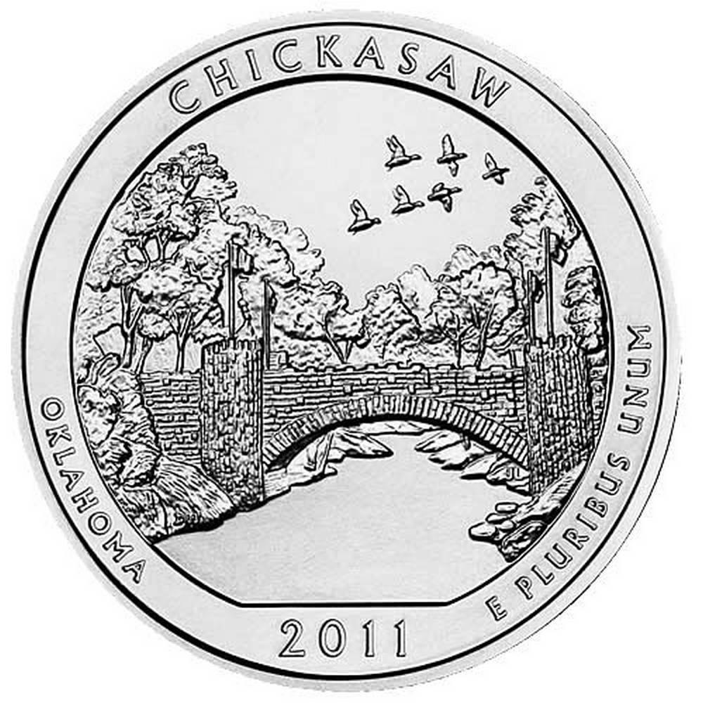 2011 Silver 5oz. Chickasaw ATB #IRS81449