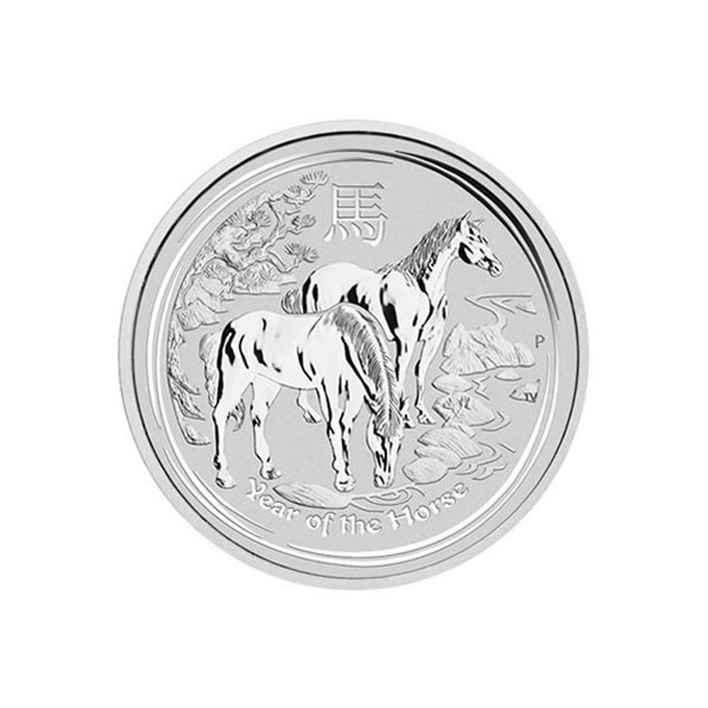2014 Australia 5 oz Silver Lunar Horse #IRS81476