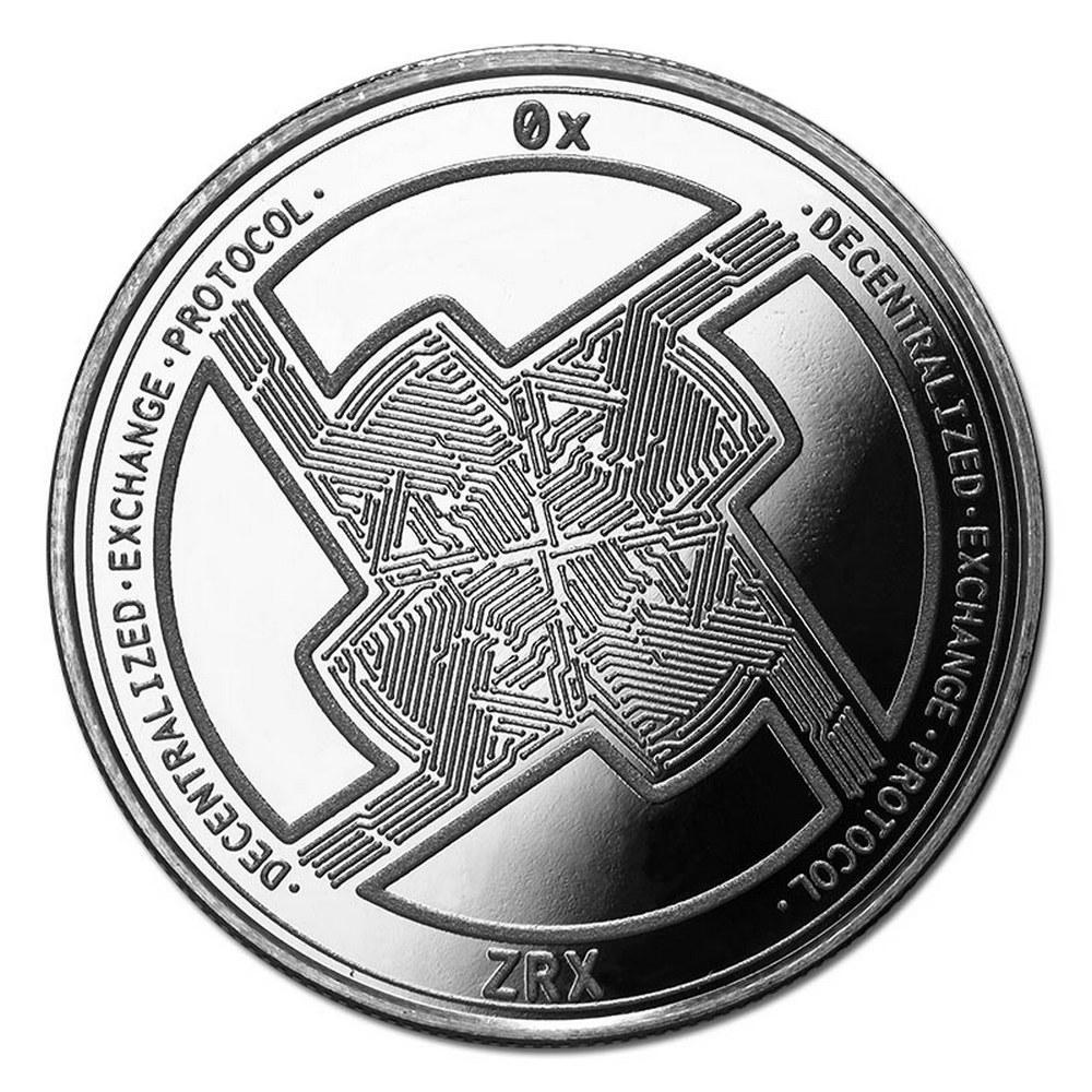 1 oz Silver Bullion Cryptocurrency 0x Protocol Round .999 fine #IRS81326