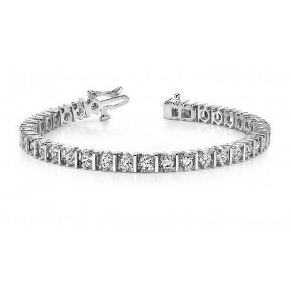 14K WHITE GOLD 2 CTW G-H SI2/SI3 CLASSIC DIAMOND LINK PRONG SET TENNIS BRACELET #IRS20020