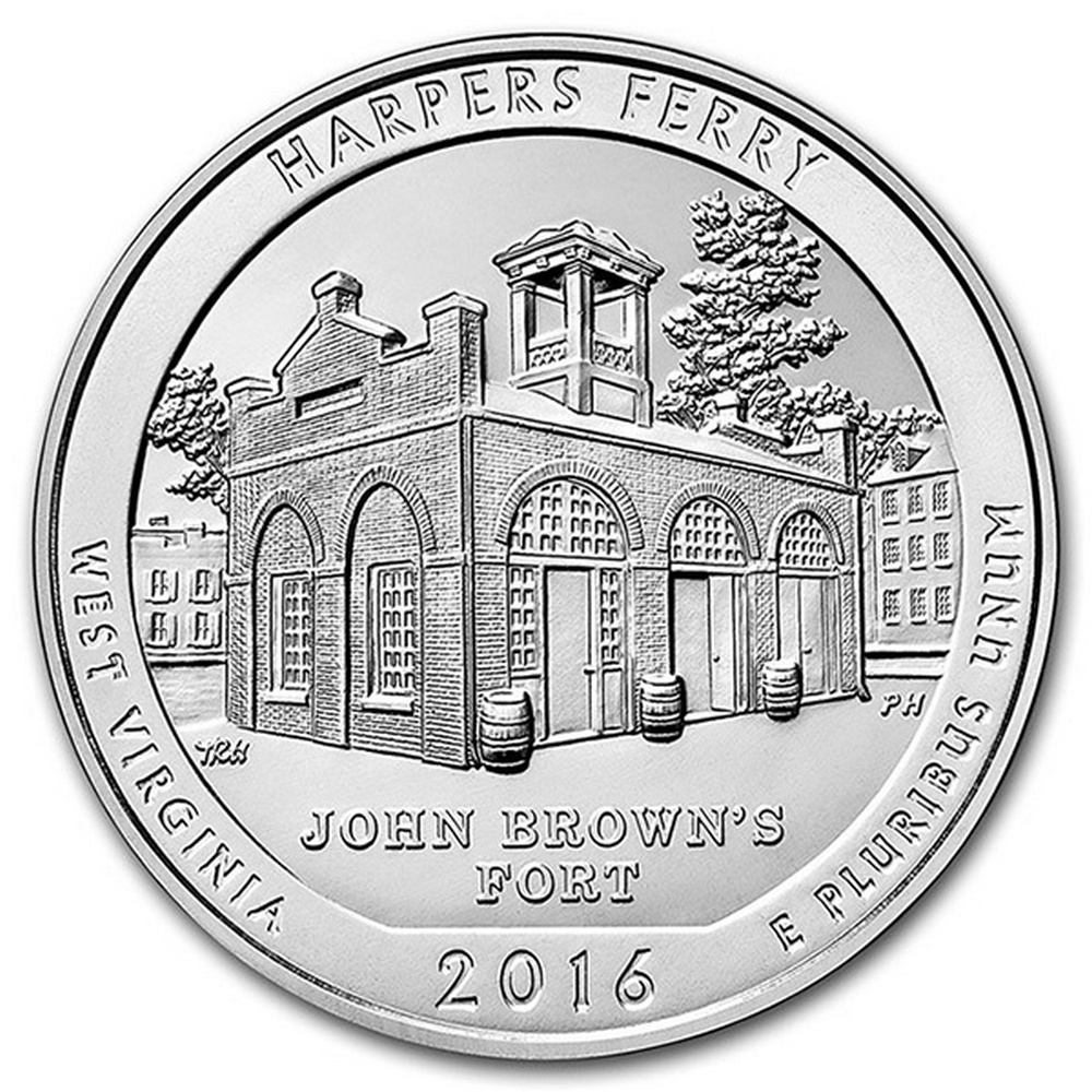2016 Silver 5oz. Harpers Ferry ATB #IRS81440