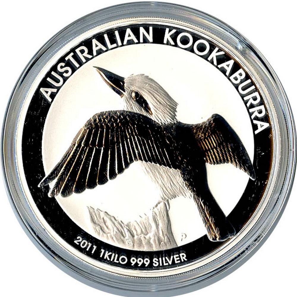 Australian Kookaburra Kilo Silver 2011 #IRS81436