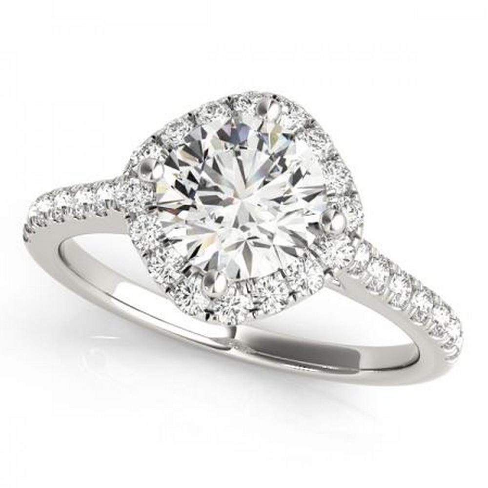 CERTIFIED PLATINUM 1.55 CTW G-H/VS-SI1 DIAMOND HALO ENGAGEMENT RING #IRS86150