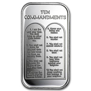 1 Oz Silver Bar Ten Commandments Irs74698