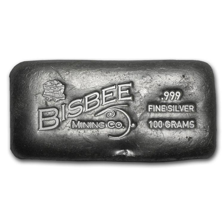100 Gram Silver Bar Bisbee 100 Gram Silver Bar Bisbee All