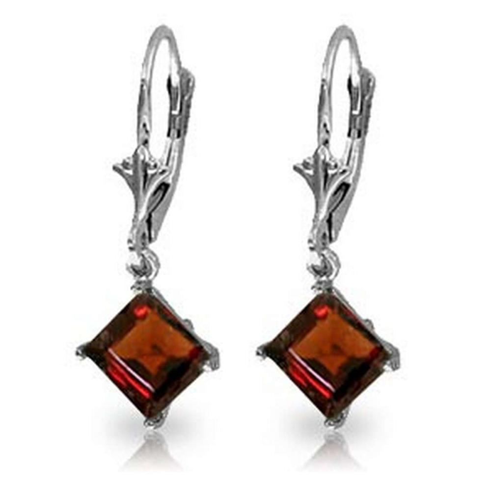3.2 Carat 14K Solid White Gold Smile From The Heart Garnet Earrings #IRS92260