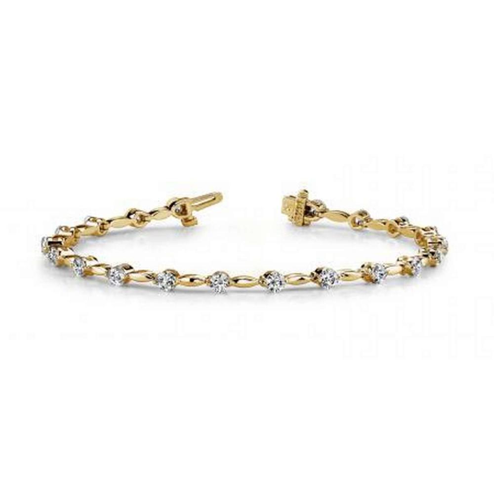 14K YELLOW GOLD 1 CTW G-H VS2/SI1 TEARDROP LINK DIAMOND BRACELET #IRS19908