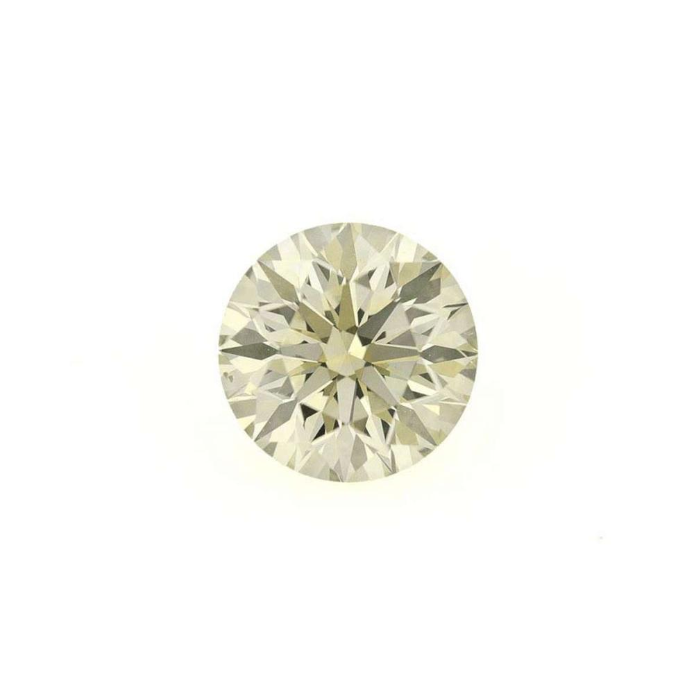 CERTIFIED IGI ROUND 1.14 CTW DIAMOND (I2/X-Y LIGHT YELLOW) #IRS45617