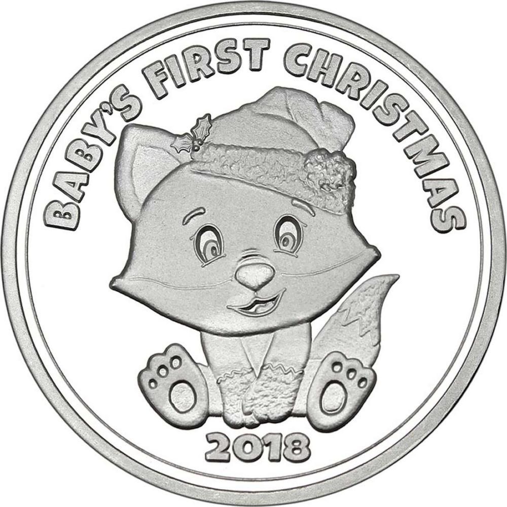 Christmas 2018 Silver Round X-14 Babys First Christmas #IRS51161