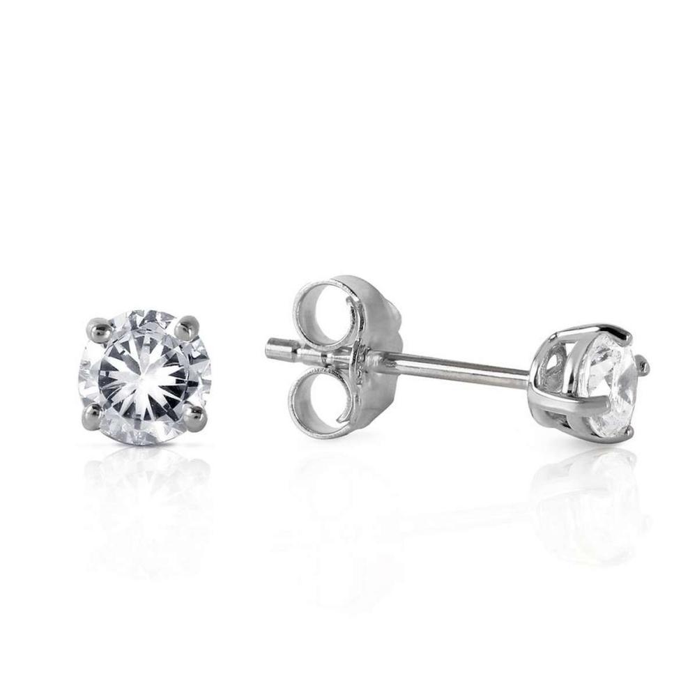 0.3 Carat 14K Solid White Gold Stud Earrings 0.30 Carat Natural Diamond #IRS92737