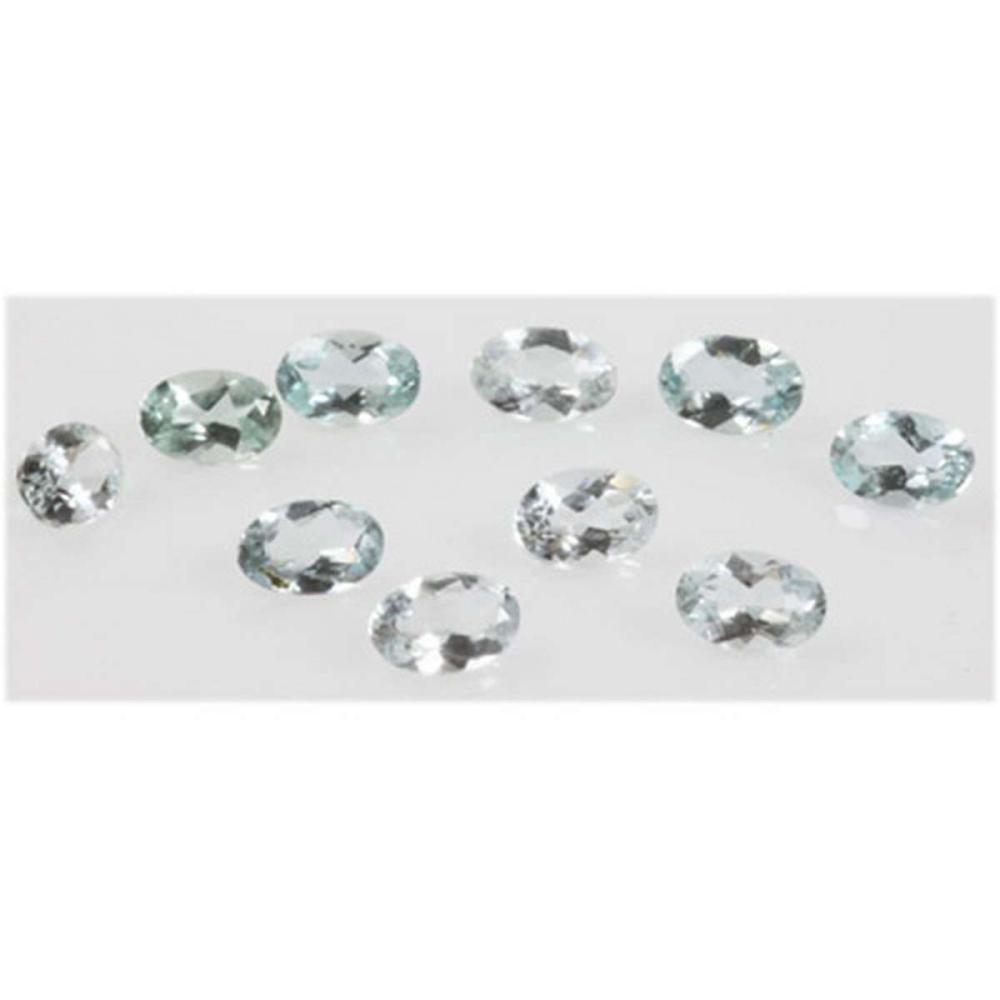 Natural 3.82ctw Aquamarine Oval 4x6 (10) Stone #IRS17045