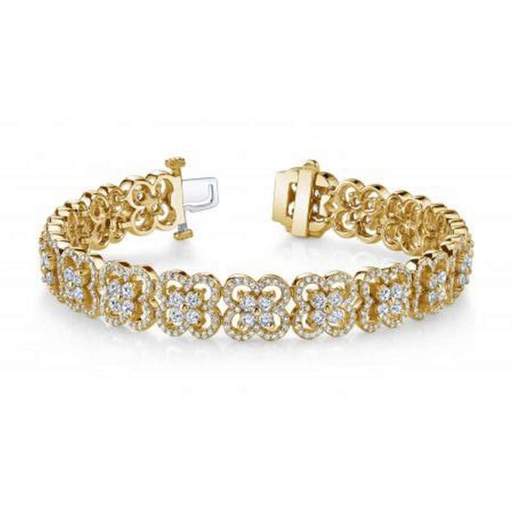 14KT YELLOW GOLD 5 CTW G-H SI2/SI3 BLOSSOMING BEAUTY DIAMOND BRACELET #IRS20285