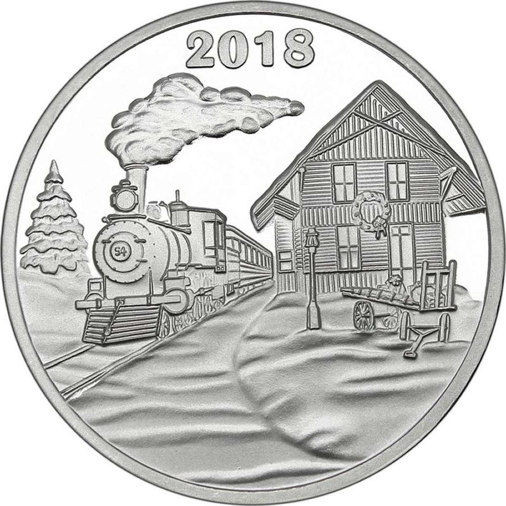 Christmas 2018 Silver Round X-10 The Holiday Express #IRS51171