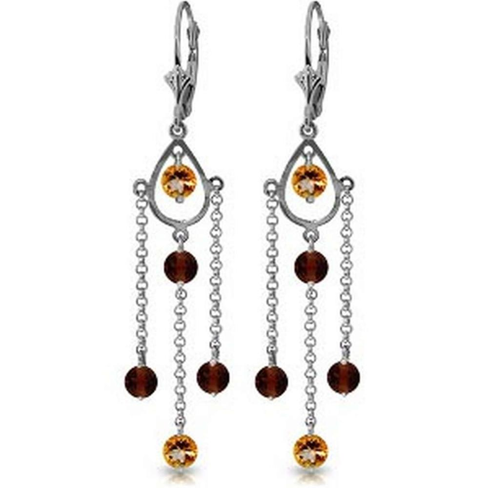 3 Carat 14K Solid White Gold Freedom Costs Citrine Garnet Earrings #IRS92578