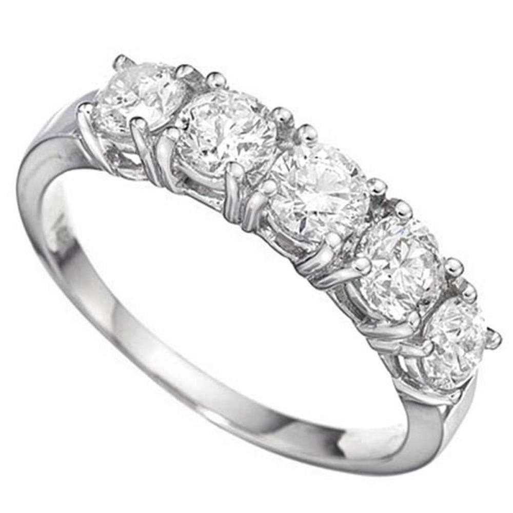 14K WHITE DIAMOND 1.09 CTW Ring #IRS50679