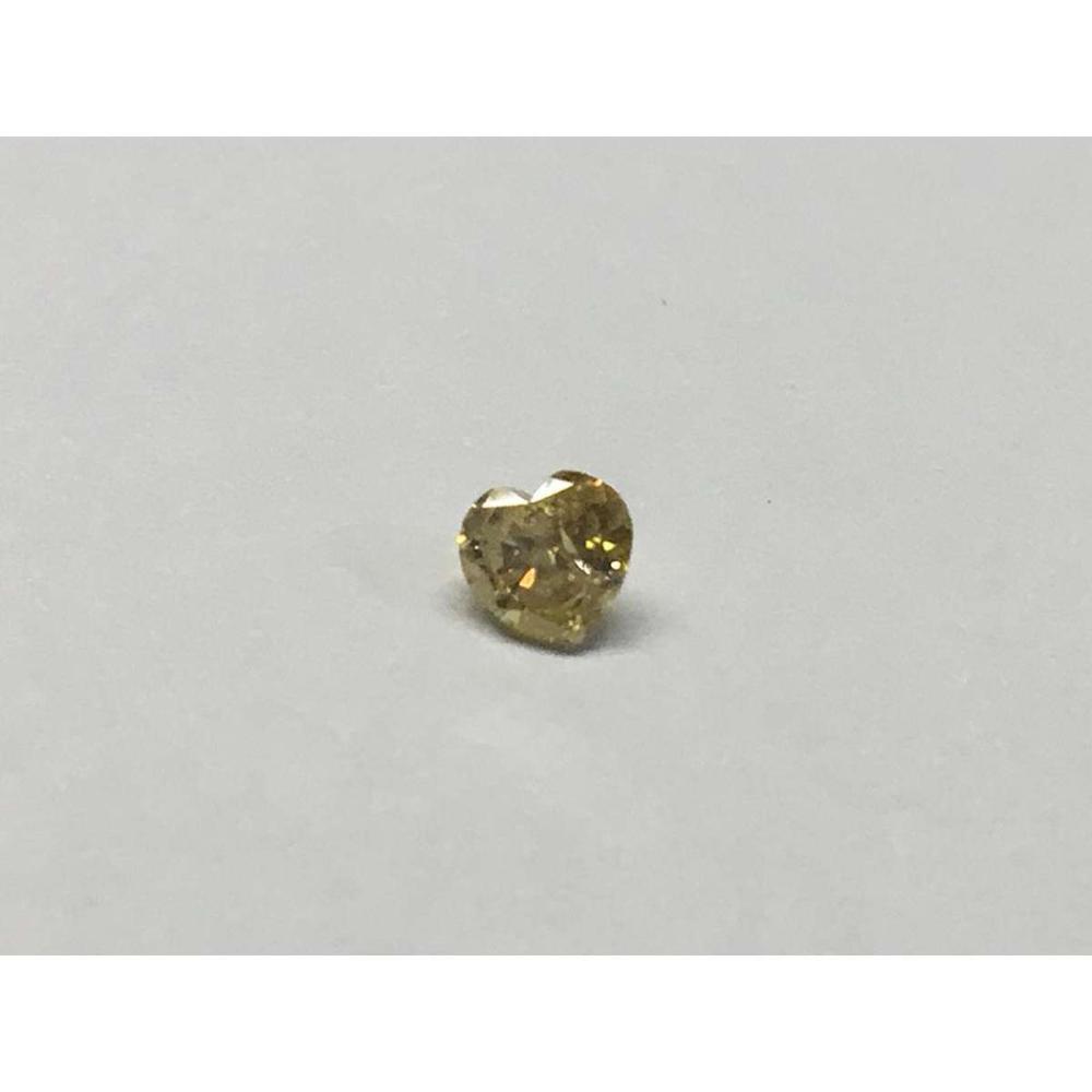 NATURAL FANCY YELLOW .30 CTW HEART SHAPE DIAMOND I1 #IRS45627