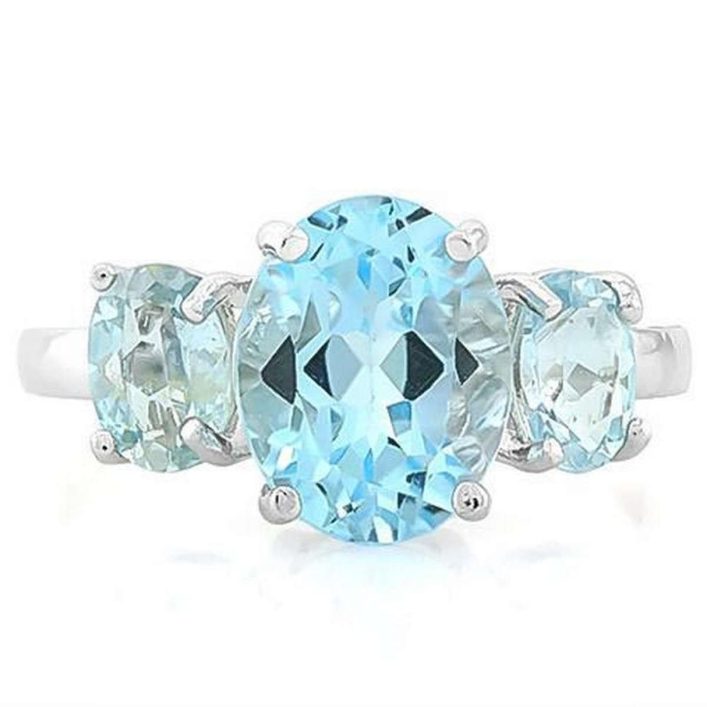 5 3/5 CARAT BABY SWISS BLUE TOPAZ925 STERLING SILVER RING #IRS36201