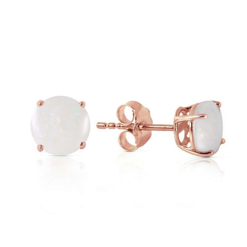0.7 Carat 14K Solid Rose Gold Lulu Opal Stud Earrings #IRS92673