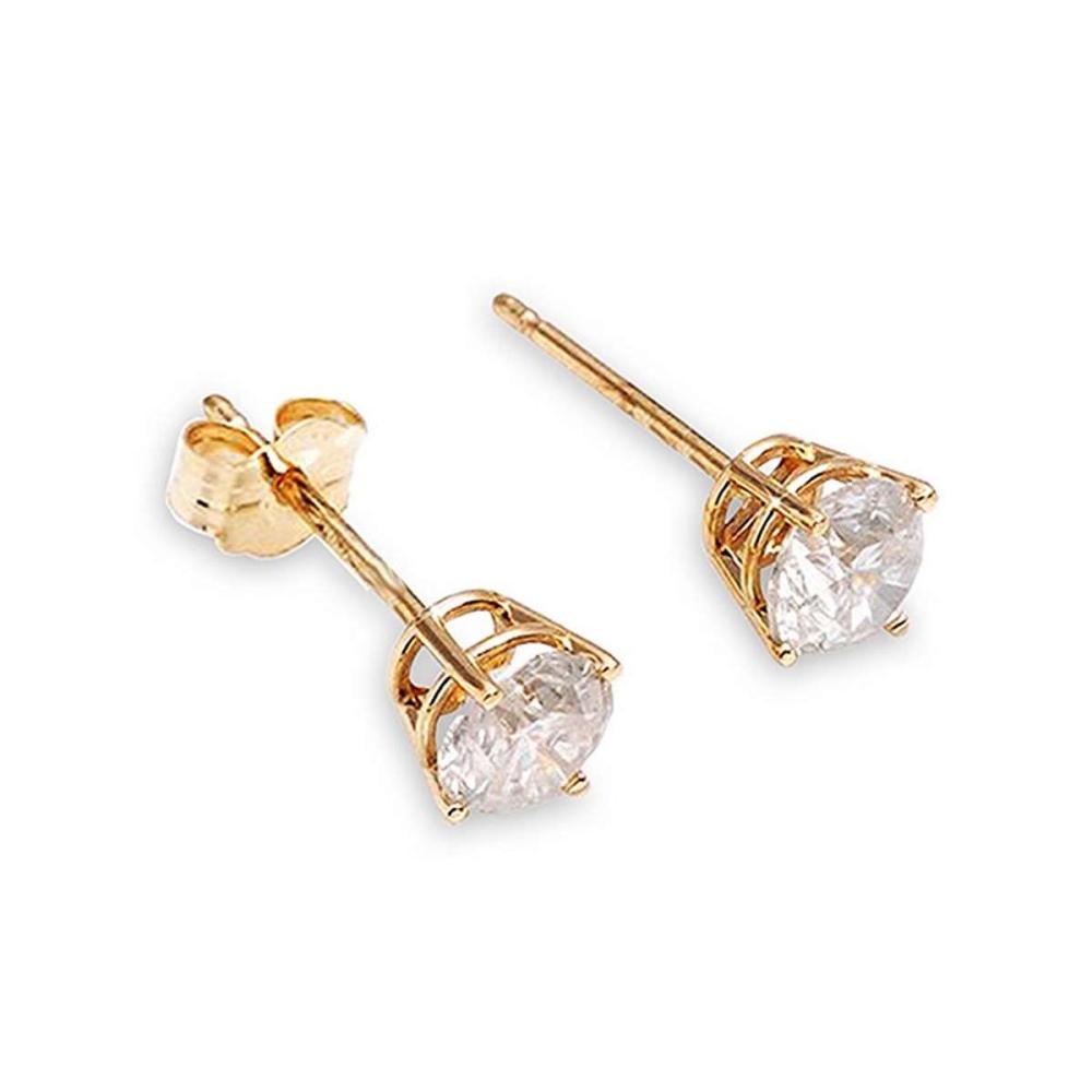 0.2 Carat 14K Solid Gold Stud Earrings 0.20 Carat Natural Diamond #IRS92741