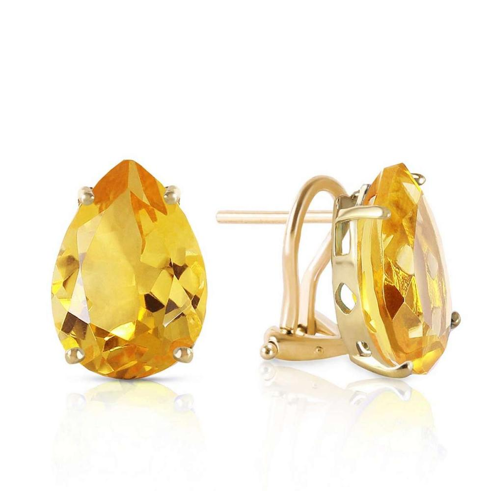 10 CTW 14K Solid Gold Inspiration Citrine Earrings #IRS92666