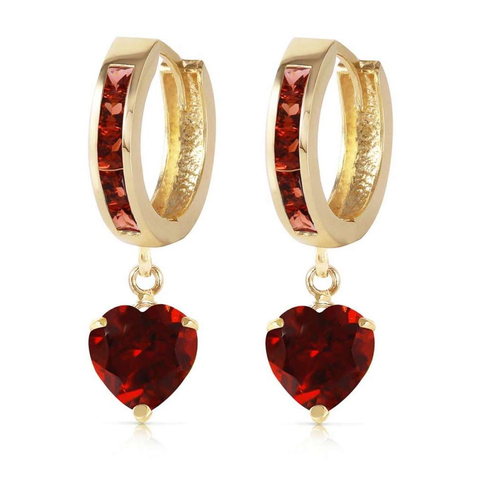 4.1 Carat 14K Solid Gold Sicily Garnet Earrings #IRS92231