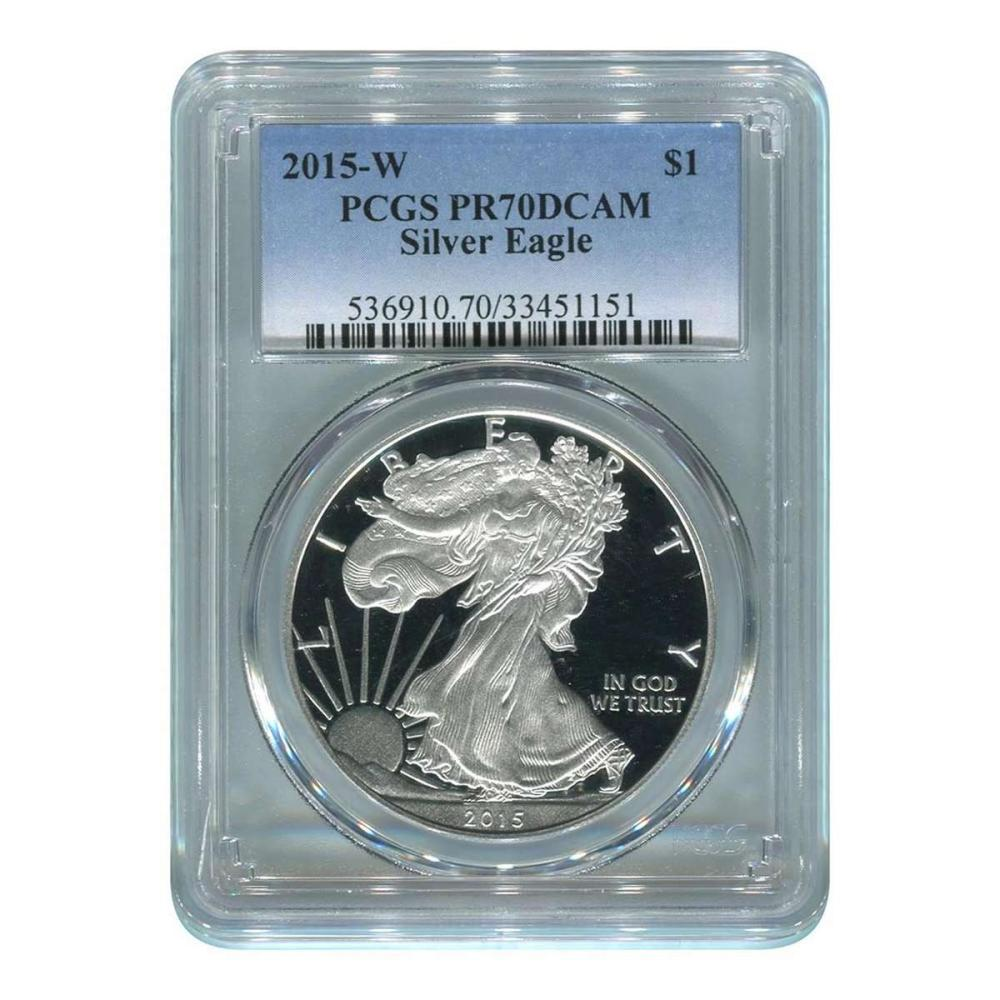 Certified Proof Silver Eagle 2015-W PR70DCAM PCGS #IRS98336