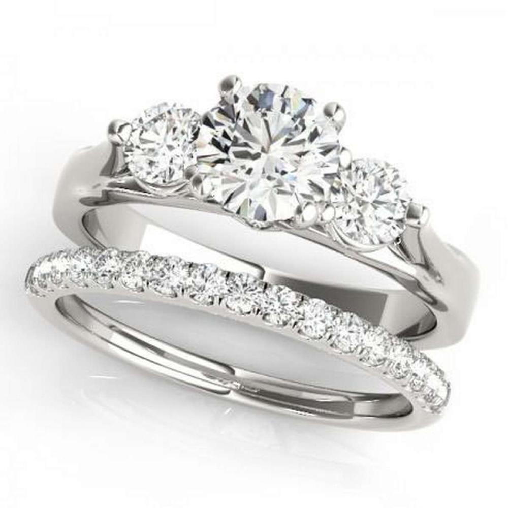 CERTIFIED 18KT WHITE GOLD 1.25 CTW G-H/VS-SI1 DIAMOND BRIDAL SET  #IRS86782