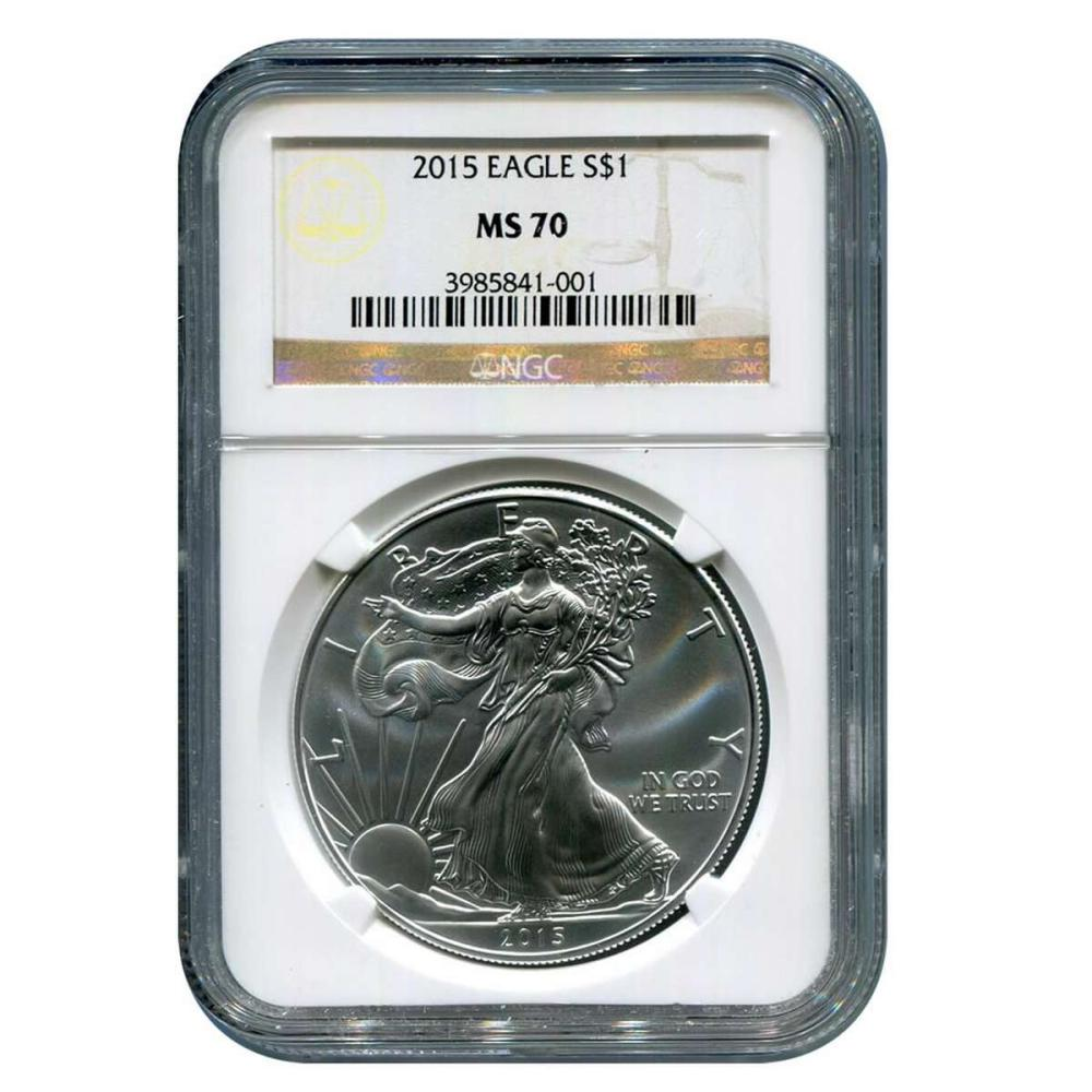 Certified Uncirculated Silver Eagle 2015 MS70 NGC #IRS98303