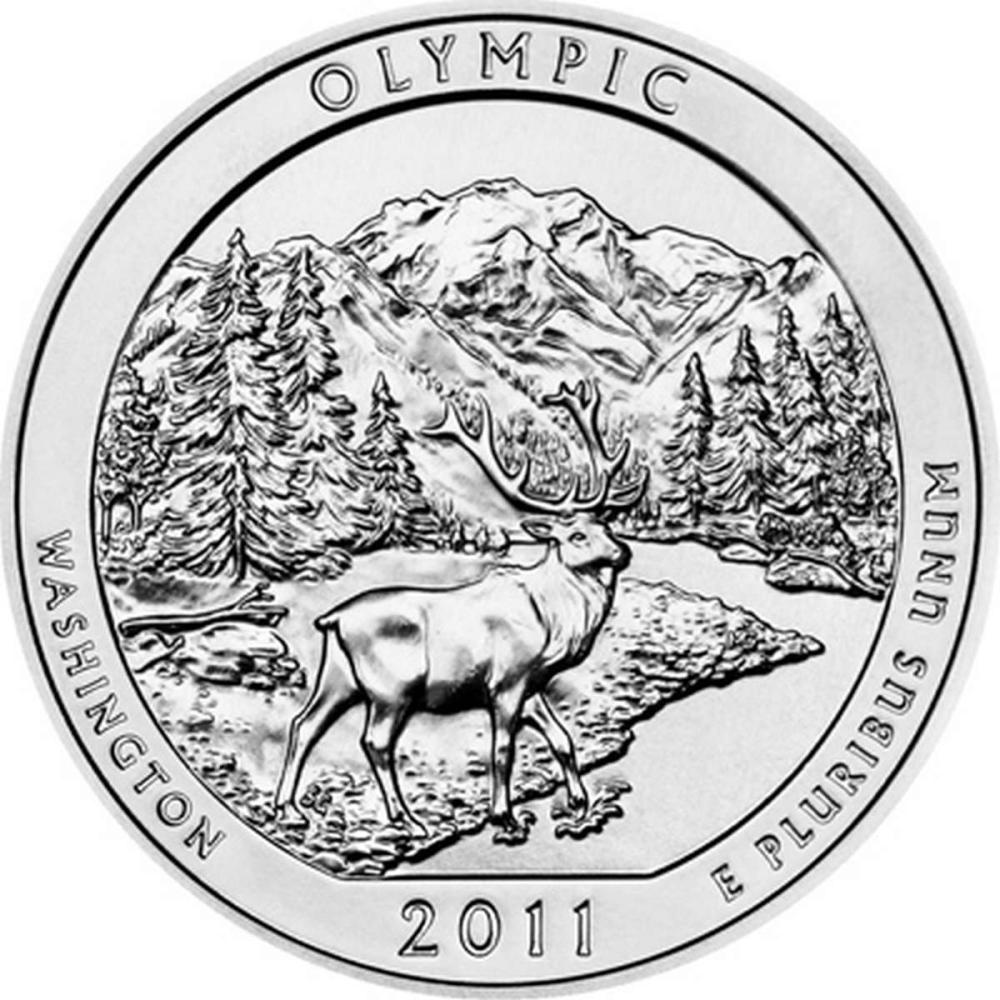2011 Silver 5oz. Olympic ATB #IRS81450