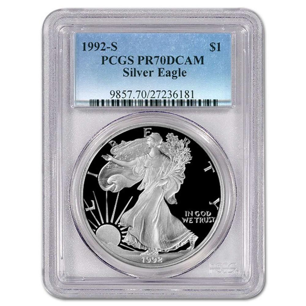 Certified Proof Silver Eagle 1992-S PR70DCAM PCGS #IRS98365