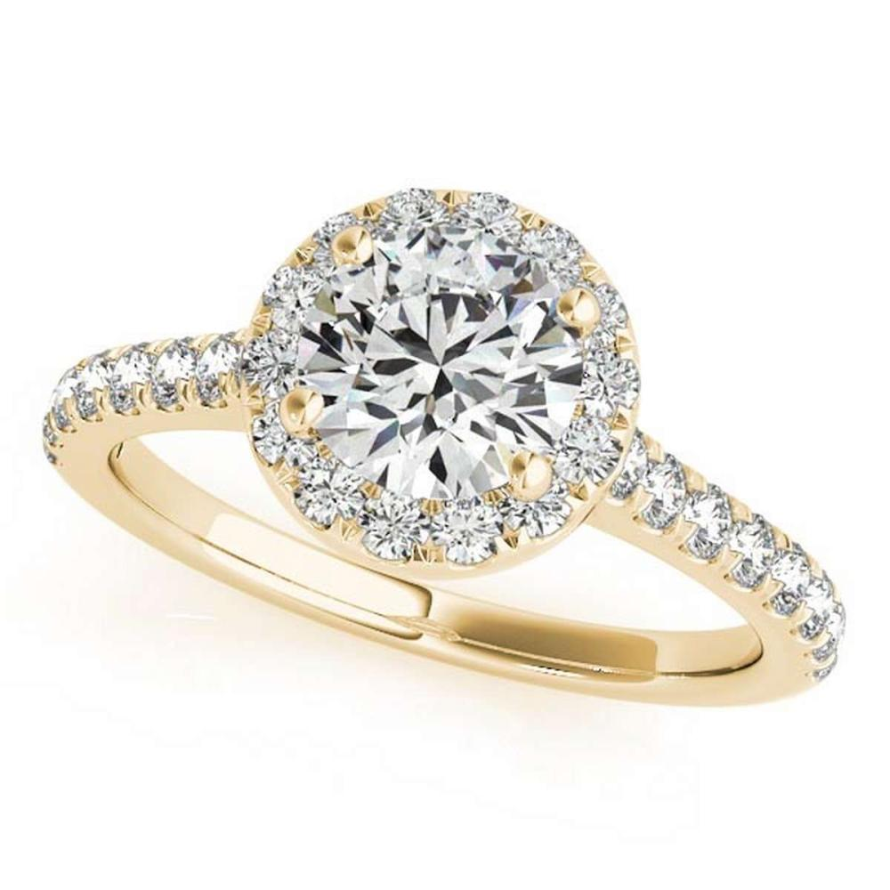 CERTIFIED 18K YELLOW GOLD 1.32 CT G-H/VS-SI1 DIAMOND HALO ENGAGEMENT RING #IRS86476