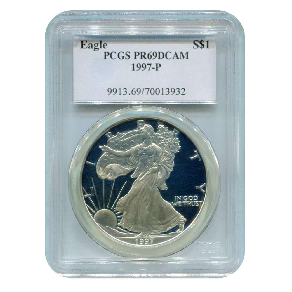 Certified Proof Silver Eagle 1997-P PR69DCAM PCGS #IRS98323