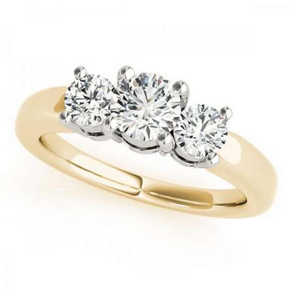 CERTIFIED 18KT TWO TONE GOLD 2.25 CTW G-H/VS-SI1 DIAMOND BRIDAL SET #IRS86786