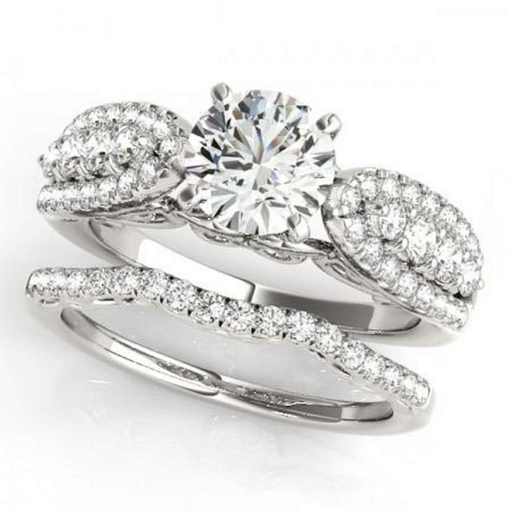 CERTIFIED 18KT WHITE GOLD 1.45 CTW G-H/VS-SI1 DIAMOND BRIDAL SET  #IRS86743