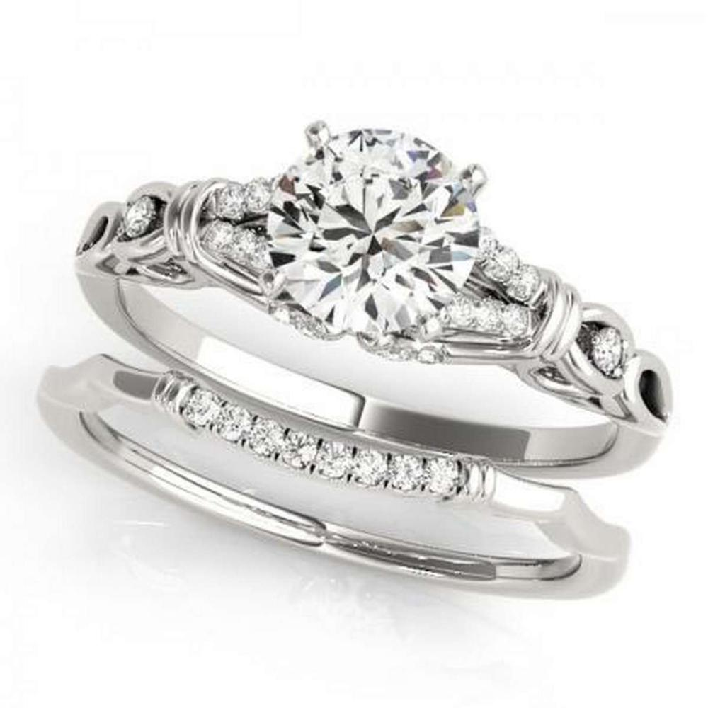 CERTIFIED 18KT WHITE GOLD 1.43 CTW G-H/VS-SI1 DIAMOND BRIDAL SET  #IRS86742