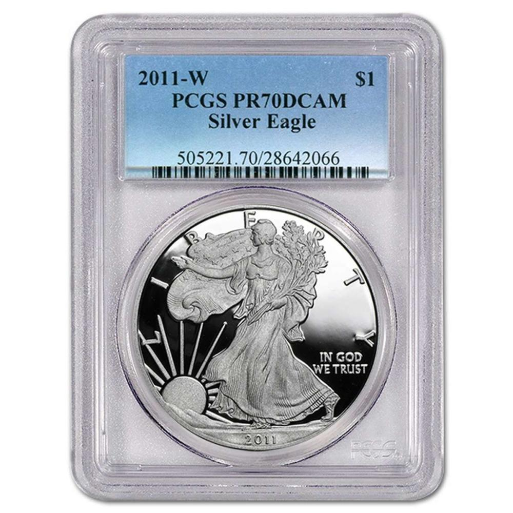 Certified Proof Silver Eagle 2011-W PR70DCAM PCGS #IRS98340
