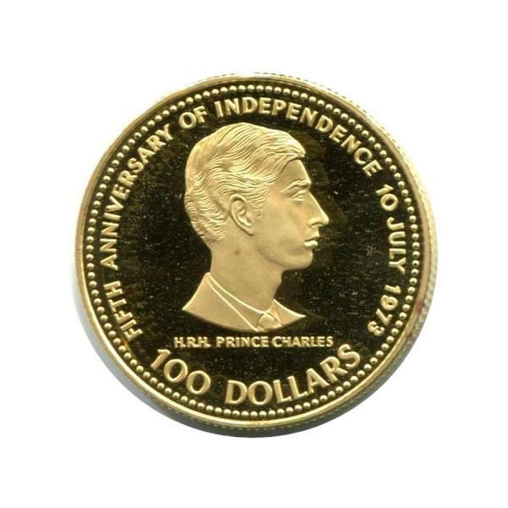 Bahamas $100 gold 1978 PF Independence #IRS95983
