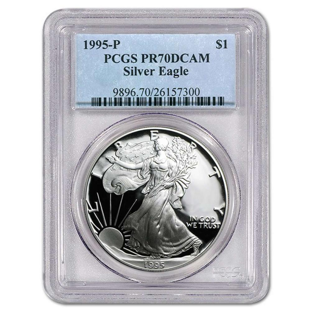 Certified Proof Silver Eagle 1995-P PR70DCAM PCGS #IRS98353