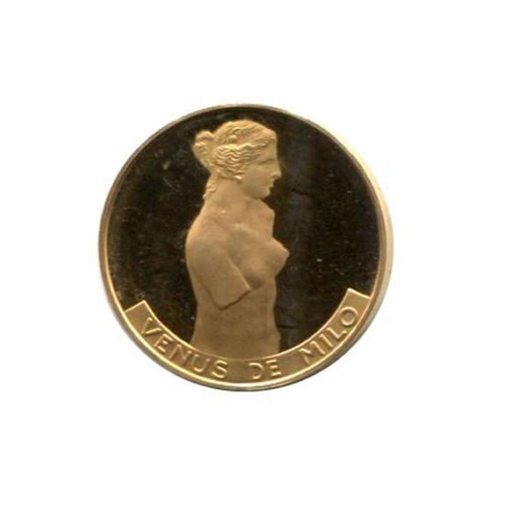 Great Works of the Past gold art medal 6.0 g. PF Venus de Milo #IRS96463