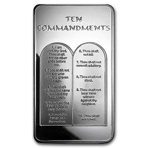 10 Oz Silver Bar Ten Commandments Irs74646