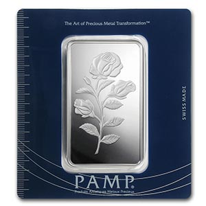 100 Gram Silver Bar Pamp Suisse Rosa Irs74809