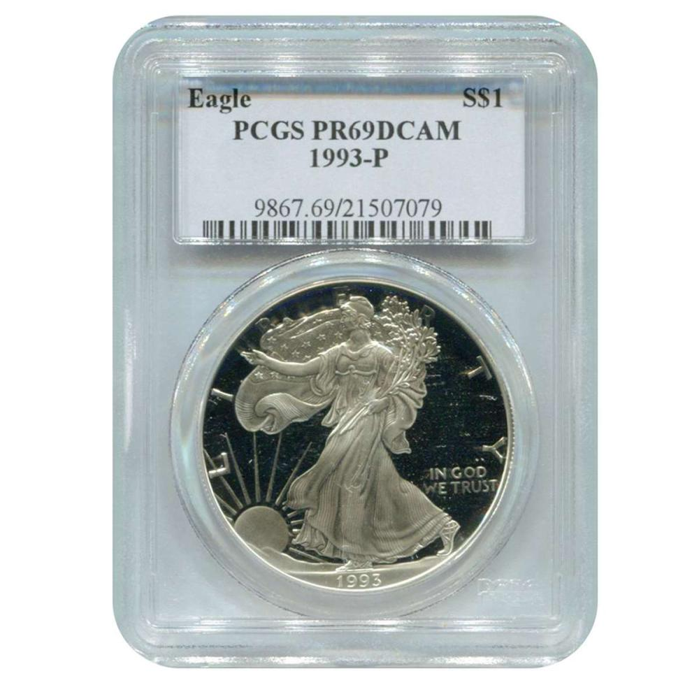 Certified Proof Silver Eagle 1993-P PR69DCAM PCGS #IRS98327