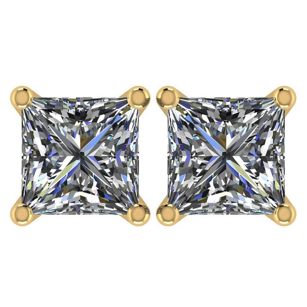 Lot 9114023: Certified 2.00 Ctw Diamond 14K Yellow Gold Stud Earring #IRS97358