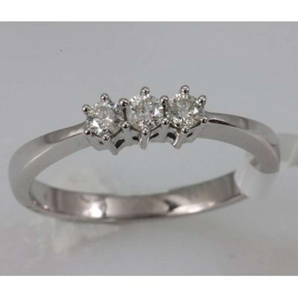 Genuine 0.25 ctw Diamond Ring 14K White Gold #IRS99526