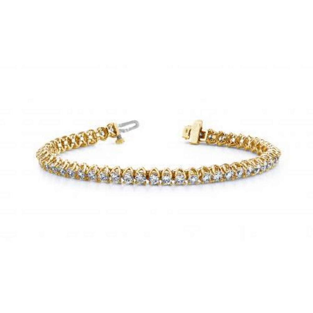 14K YELLOW GOLD 1 CTW G-H VS2/SI1 SCOOP LINK DIAMOND TENNIS BRACELET #IRS19884