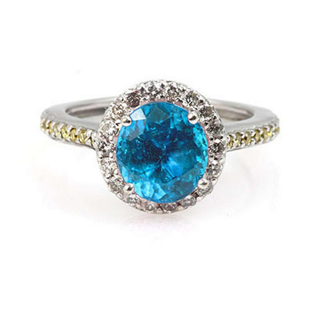 Genuine 1.85 ctw Aqua Marine Ring 14k #IRS11590