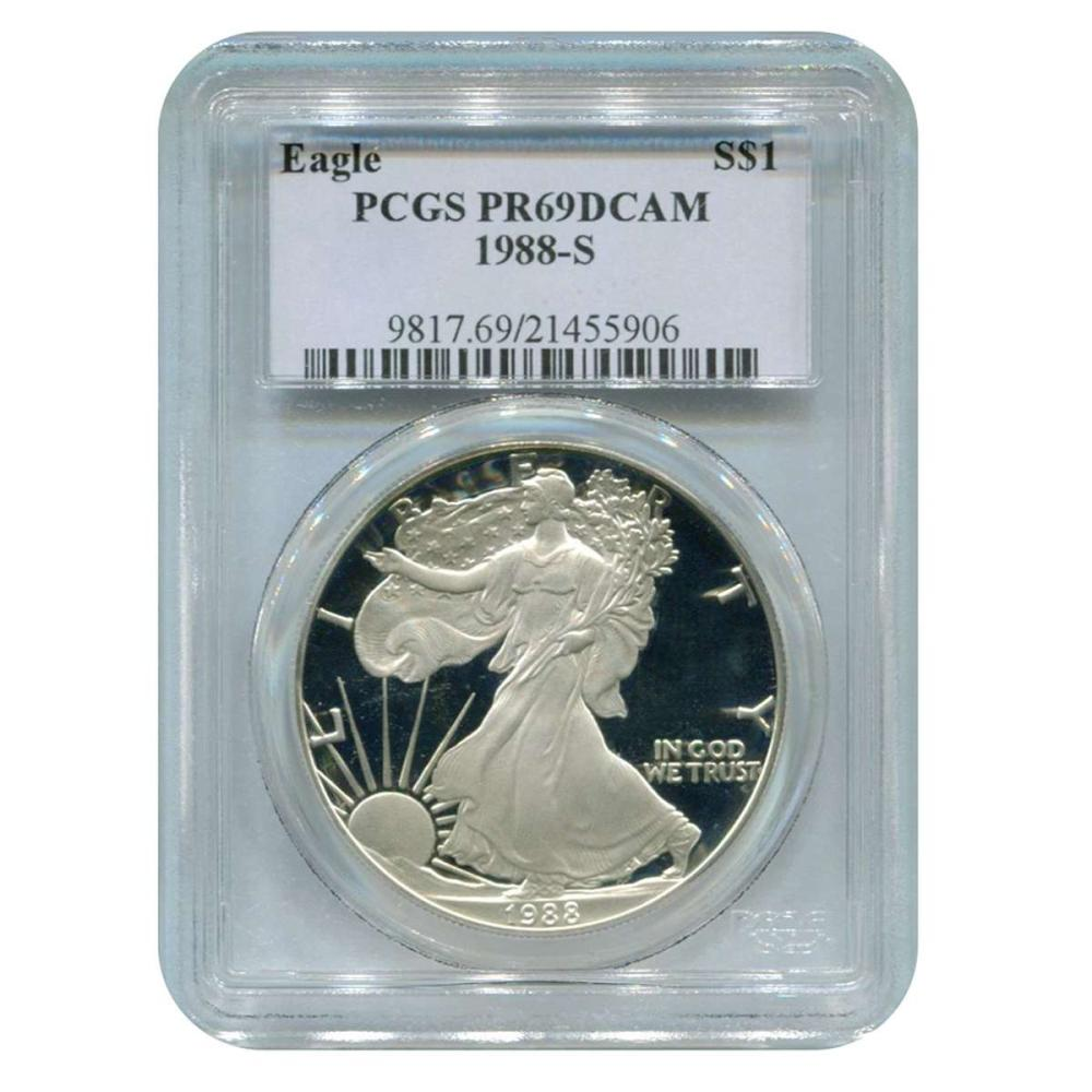 Certified Proof Silver Eagle 1988-S PR69DCAM PCGS #IRS98332