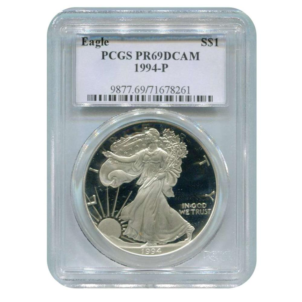 Certified Proof Silver Eagle 1994-P PR69DCAM PCGS #IRS98326