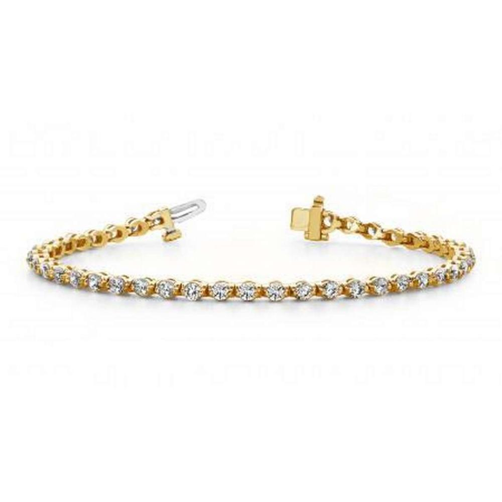14K YELLOW GOLD 2 CTW G-H VS2/SI1 CLASSIC PRONG SET DIAMOND TENNIS BRACELET #IRS19912